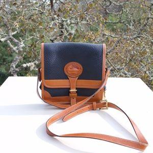 Dooney & Bourke Black Brown Crossbody Bag
